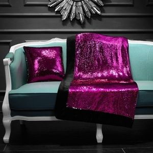Reversible Sequins Sparkle Throw / Blanket - New